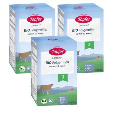 Töpfer Bio Folgemilch 3 3 x 600 g ab dem 10. Monat
