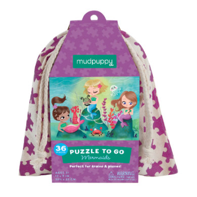 mudpuppy Puzzle To Go - Mermaid