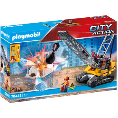 PLAYMOBIL CITY ACTION pásový jeřáb s komponentou