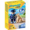 PLAYMOBIL ® 1 2 3 Polis med hund
