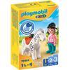 PLAYMOBIL® 1 2 3 Reiterin mit Pferd