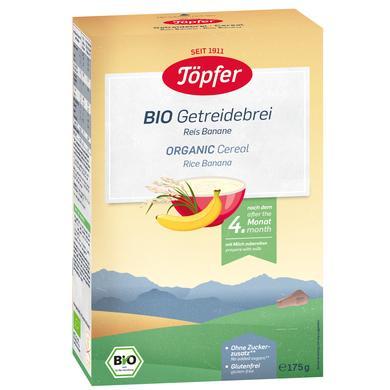 Töpfer Bio Getreidebrei Reis Banane 175 g nach dem 4. Monat