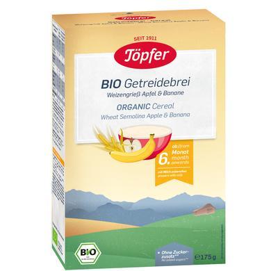 Töpfer Bio Getreidebrei Weizengrieß Apfel und Banane 175 g ab dem 6. Monat