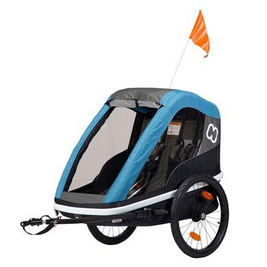 hamax Avenida Dvojitý přívěs na kolo pro děti Petrol Blue