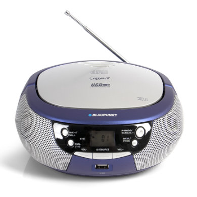 BLAUPUNKT Boombox mit CD und USB, blau