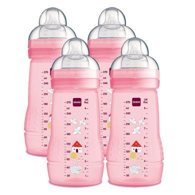 MAM Biberon Easy Active™ 270 ml 0 m+ rose lot de 4