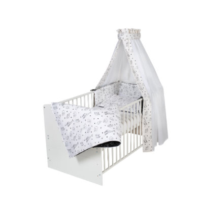 Kinderbetten - Schardt Komplettbett Classic White Origami Black 70 x 140 cm  - Onlineshop Babymarkt