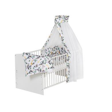 Kinderbetten - Schardt Komplettbett Classic White Jungle 70 x 140 cm  - Onlineshop Babymarkt