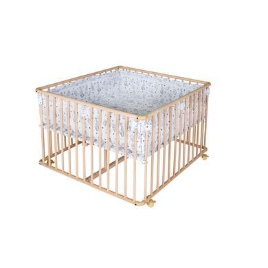 Laufgitter - Schardt Laufgitter Basic natur inkl. Laufgittereinlage 100 x 100 cm Origami Black  - Onlineshop Babymarkt