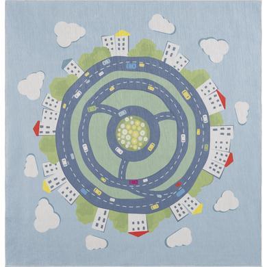 LIVONE kindertapijt Happy Rugs KIDS EARTH blauw 120 x 120