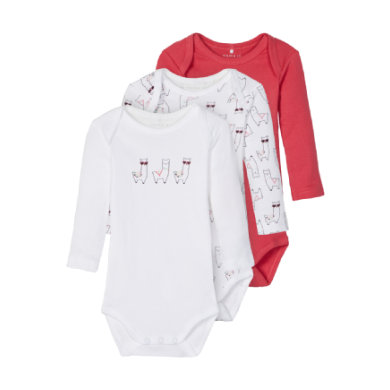 Babywaesche - name it Body NBFBODY 3er Pack claret red - Onlineshop Babymarkt