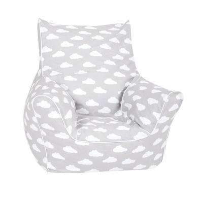 Sitzmöbel - knorr® toys Kindersitzsack Grey white clouds  - Onlineshop Babymarkt