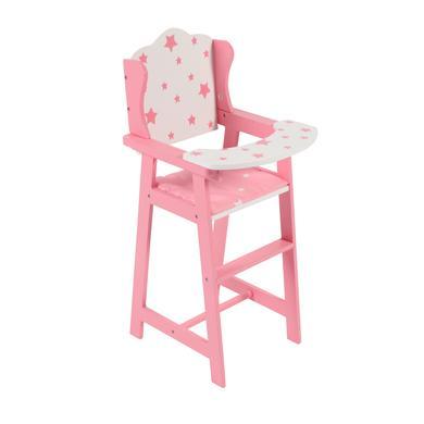 BAYER CHIC 2000 Chaise Stars haute pour poupées rose