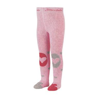 Sterntaler Krabbelstrumpfhose Herz rosa melange