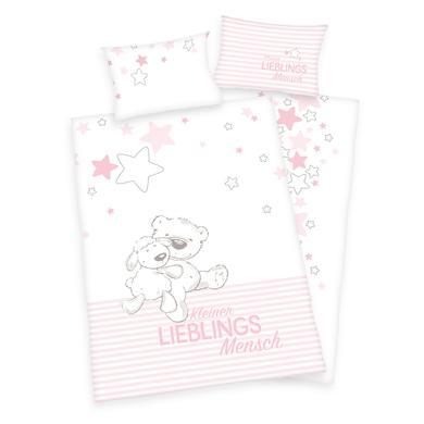 Image of babybest® Bettwäsche Kleiner Lieblingsmensch GOTS rosa 100 x 135 cm