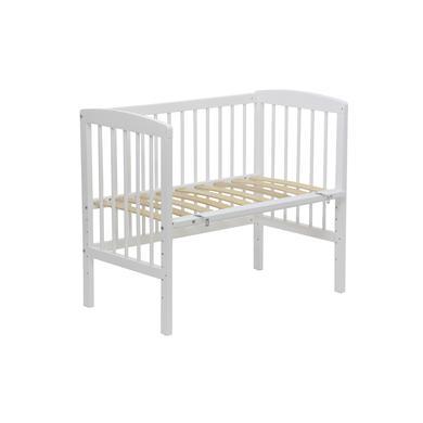 Kinderbetten - Polini Kids Beistellbett Simple weiß  - Onlineshop Babymarkt