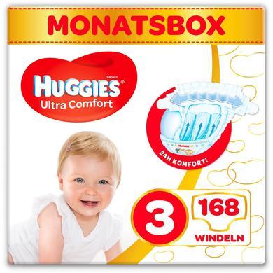 Image of Huggies Luiers Ultra Comfort Babymaat 3 Maand doos 168 stuks