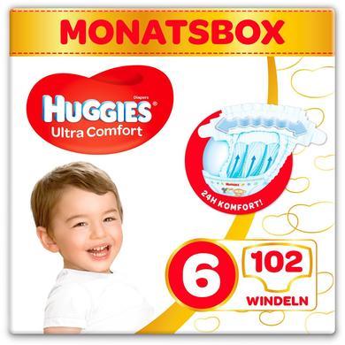 Image of Huggies Luiers Ultra Comfort Babymaat 6 Maand doos 102 stuks