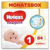 Huggies Newborn Baby-bleier til nyfødte Størrelse 1 84 stk