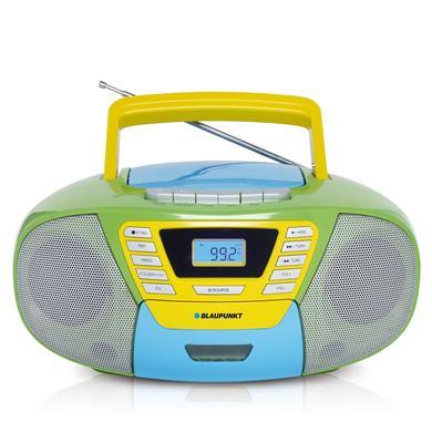 BLAUPUNKT Boombox s kazetovou mechanikou, USB, CD a Bluetooth, barevný