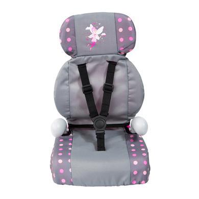bayer Design Puppen Autositz Deluxe grau/rosa, mit Fee