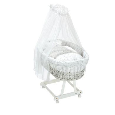 Stubenwagen und Wiegen - Alvi® Komplettstubenwagen Birthe weiß Lullaby  - Onlineshop Babymarkt