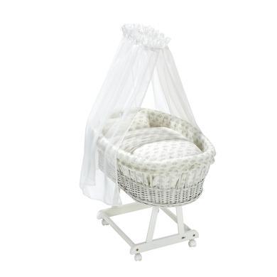 Stubenwagen und Wiegen - Alvi® Komplettstubenwagen Birthe weiß Star Rain  - Onlineshop Babymarkt