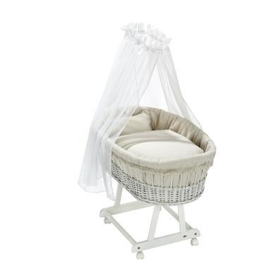 Stubenwagen und Wiegen - Alvi® Komplettstubenwagen Birthe weiß Starfant  - Onlineshop Babymarkt