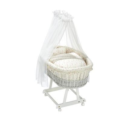 Stubenwagen und Wiegen - Alvi® Komplettstubenwagen Birthe weiß Rose Garden  - Onlineshop Babymarkt