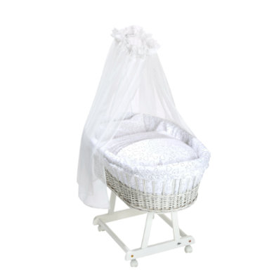 Stubenwagen und Wiegen - Alvi® Komplettstubenwagen Birthe weiß Hearts white  - Onlineshop Babymarkt