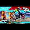 PLAYMOBIL ® Stuntshow-motorcykel med brandvägg