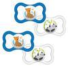 MAM Schnuller Air  6 - 16 Monate Latex Tiger/ Panda im Doppelpack