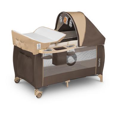 Kinderbetten - lionelo Reisebett Sven Plus Beige Stripes  - Onlineshop Babymarkt
