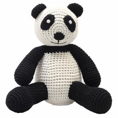 natureZoo of Denmark háčkovaná plyšová hračka Panda, černá