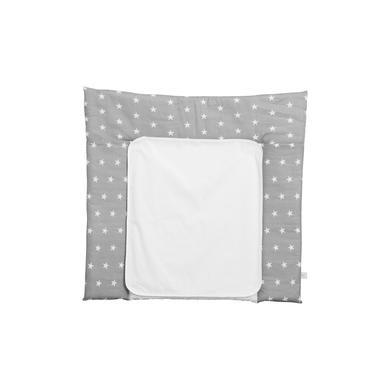 Wickelmöbel und Zubehör - Polini Kids Wickelauflage 77 x 72 cm Sterne grau  - Onlineshop Babymarkt