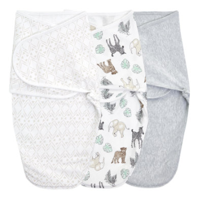 Image of aden + anais™ essentials easy swaddle™ Wickel-Pucktuch 3er-Pack toile 0-3 Monate