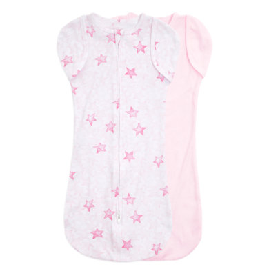 Image of aden + anais™ essentials easy swaddle™ Pucktuch 2er-Pack twinkling stars pink