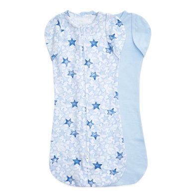 Image of aden + anais™ essentials easy swaddle™ Pucktuch 2er-Pack twinkling stars blue