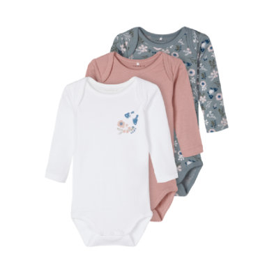 Babywaesche - name it Body 3er Pack Pale Mauve - Onlineshop Babymarkt