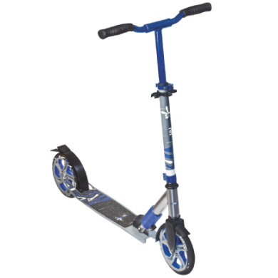 AUTHENTIC SPORTS Aluminium Scooter Muuwmi Deluxe 205mm, blau grau