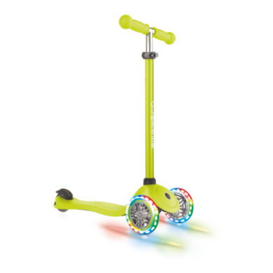 Roller - GLOBBER Scooter PRIMO LIGHTS lime grün, mit Leuchtrollen - Onlineshop