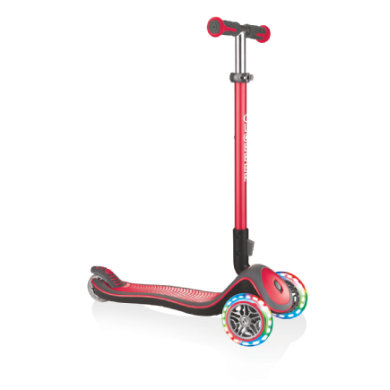Roller - GLOBBER Scooter ELITE DELUXE LIGHTS rot mit Leuchtrollen - Onlineshop