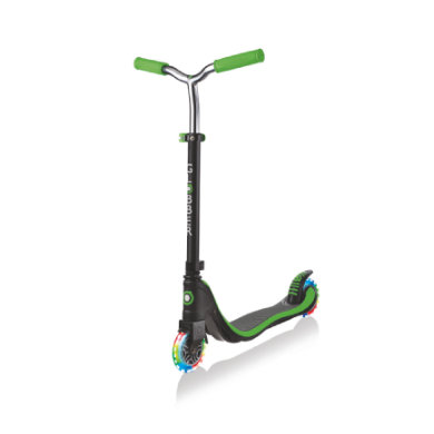 Roller - GLOBBER Scooter FLOW 125 LIGHTS lime grün, mit Leuchtrollen - Onlineshop