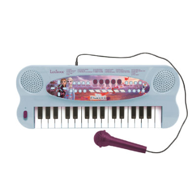 LEXIBOOK Disney Ice Queen 2 - 32klávesové piano s mikrofonem pro zpěv