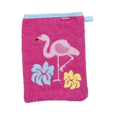 Kindertextilien - Playshoes Frottee Waschhandschuh Flamingo pink  - Onlineshop Babymarkt