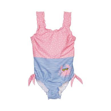 Minigirlbademode - Playshoes UV–Schutz Badeanzug Krebs blau–pink - Onlineshop Babymarkt