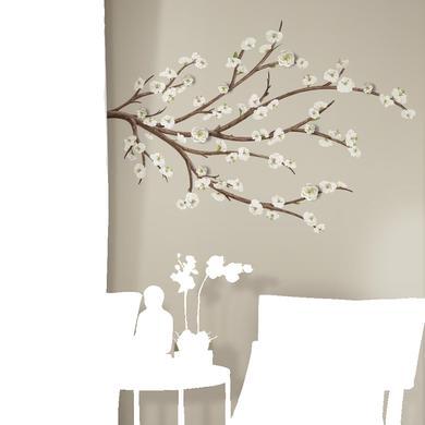 Wanddekoration - RoomMates® Wandsticker weißer Blütenzweig  - Onlineshop Babymarkt