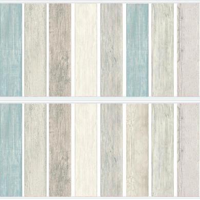 Wanddekoration - RoomMates® Wandsticker Vintage Holzdielen Look Blau  - Onlineshop Babymarkt