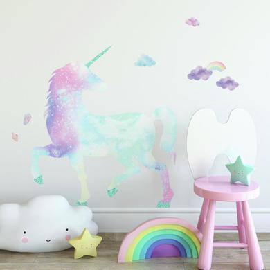 Wanddekoration - RoomMates® Wandsticker Galaktisches Glitzereinhorn  - Onlineshop Babymarkt