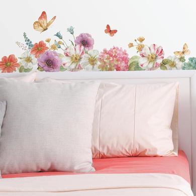 Wanddekoration - RoomMates® Wandsticker Garten Blumen Lisa Audit  - Onlineshop Babymarkt